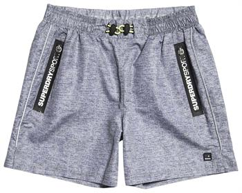 Super Dry Active TrainingShort Heren sportshort LICHT GRIJS