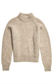 Super Dry Alpaca Blend Crew dames sweater ecru