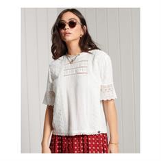 Super Dry Annie Lace Top dames shirt wit