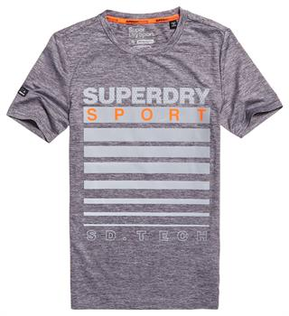 Super Dry Athletic Graphic Tee Heren sportshirt midden grijs