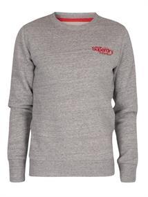 Super Dry CL Ath Crew heren sportsweater midden grijs
