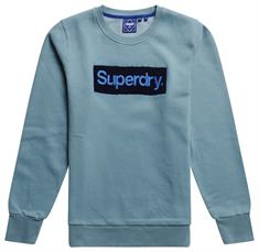 Super Dry CL Workwear Crew heren casual sweater blue