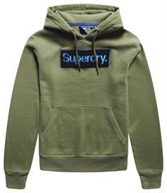 Super Dry CL Workwear Hood heren casual sweater groen