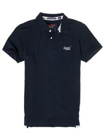 Super Dry Classic Pique S/S Polo heren polo marine