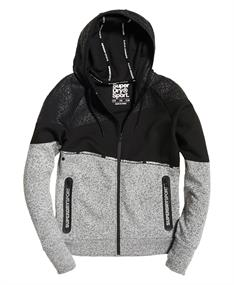Super Dry Core Gym Ziphood dames sportsweater zwart