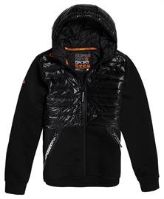 Super Dry Core Gymtech Hybrid allseason heren jas zwart