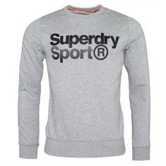 Super Dry Core Sport Crew heren sportsweater licht grijs