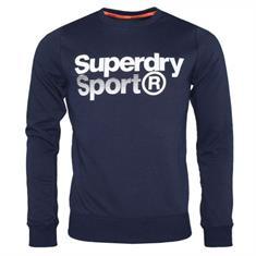 Super Dry Core Sport Crew heren sportsweater marine