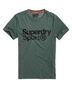 Super Dry Core Sport Tee heren sportshirt donkergroen