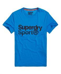 Super Dry Core sport tee heren sportshirt kobalt