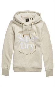 Super Dry Established Hood dames sweater ecru