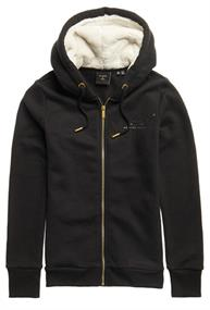 Super Dry Established Zip Hood dames sweater zwart