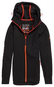 Super Dry Gym stretch ziphood heren casual sweater zwart