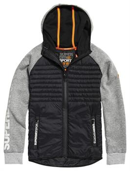 Super Dry Gym Tech Hybrid Heren all season jas midden grijs