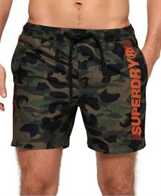 Super Dry heren beach short donkergroen