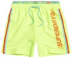 Super Dry heren beach short geel