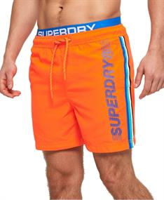 Super Dry heren beach short oranje