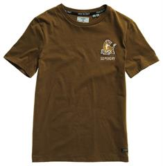 Super Dry Military Narrative Tee dames shirt khaki