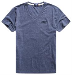 Super Dry Ol Classic Vee Tee heren shirt marine