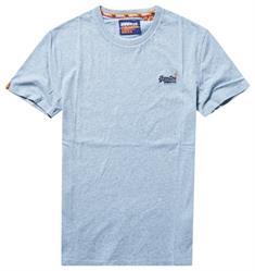 Super Dry Ol Vintage EMB Crew heren shirt blue