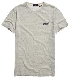 Super Dry Ol Vintage EMB Tee heren shirt midden grijs