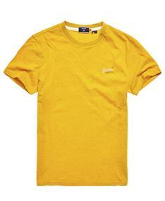 Super Dry Ol Vintage Emb Tee heren shirt oker