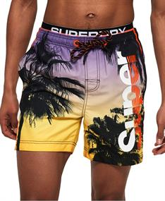 Super Dry Photographic Volley heren beach short geel dessin
