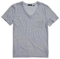 Super Dry Pocket V Neck Tee dames shirt blauw