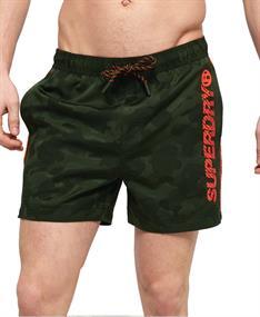 Super Dry Pool Side Swim Short heren beach short donkergroen