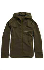 Super Dry Run Softshell Jacket heren softshell donkergroen