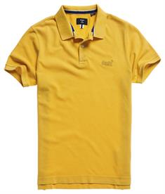 Super Dry S/S Vintage Destroyed heren polo geel