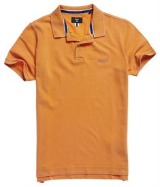 Super Dry S/S Vintage Destroyed Polo heren polo oranje
