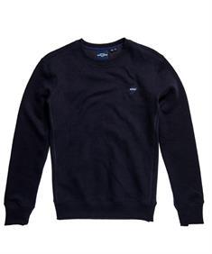 Super Dry Sportstyle Crew BR heren sportsweater marine