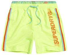 Super Dry State Volley Swim Short heren beach short geel
