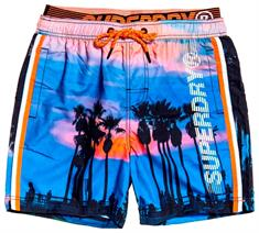 Super Dry State Volley Swim Short heren beach short kobalt