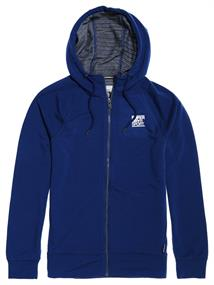 Super Dry Training Flex Ziphood heren sportsweater marine