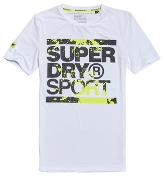 Super Dry Training Graphic Tee Heren sportshirt WIT