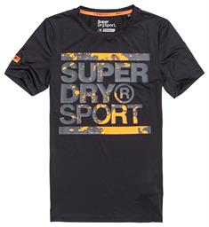 Super Dry Training Graphic Tee heren sportshirt zwart