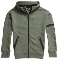 Super Dry Training Gymtech Ziphood heren sportsweater groen