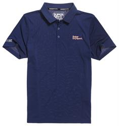 Super Dry Training Polo heren polo marine