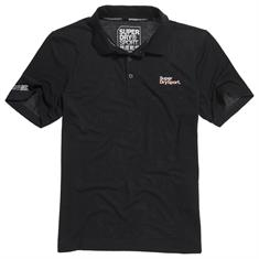 Super Dry Training Polo heren polo zwart