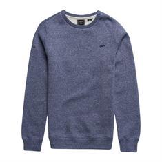Super Dry Vintage Logo EMB Crew heren casual sweater blauw