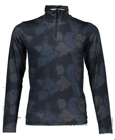 Super Rebel 909.6482.917 junior ski pulli met rits blauw dessin