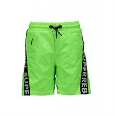 Super Rebel Text Tape jongens zwemshort groen