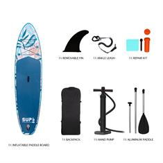 Swell 10.6'' Complete Set! supboard blauw dessin