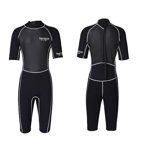 Swell Unisex surfpak korte mouw / shorty zwart