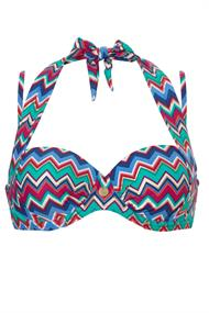 TC Wow 10064 Graphic Summer bikini top aqua-azur