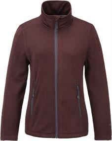 Tenson Lacy W Fleece dames softshell bordeau