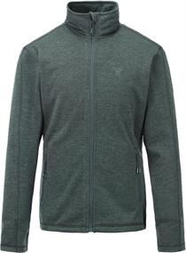 Tenson Lino Men Fleece heren softshell donkergroen