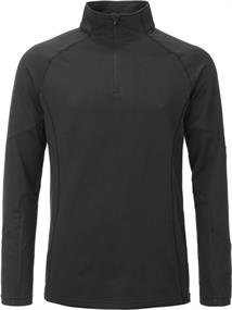 Tenson Tuhin Men Top heren ski pulli zwart